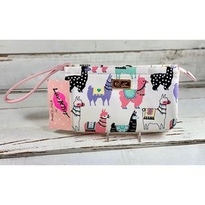 """Betsey Johnson """"Colorful Llama"""" Double Clutch"""